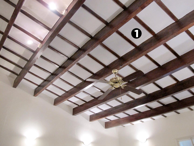 Panel acustico blanco liso techo en salon de banquetes