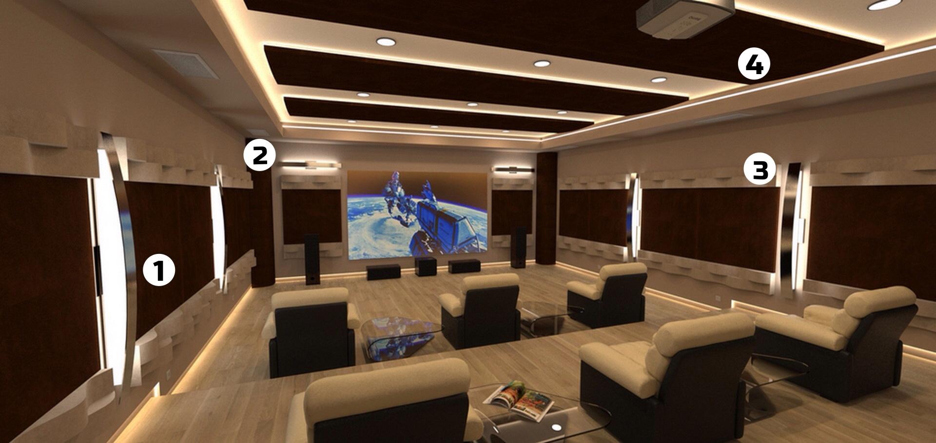 tratamiento acustico sala de cine domestica