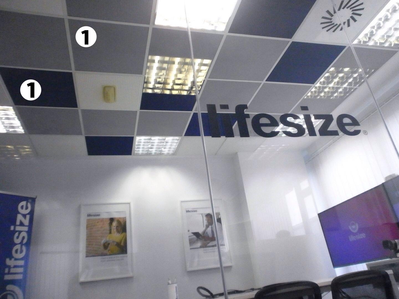 Panel acustico para falso techo de oficina registrable