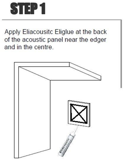 Colocar el adhesivo por detrás del panel en forma de aspa y por los bordes