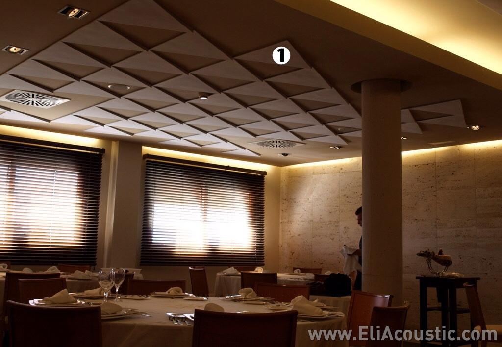 triangulo acustico decorativo insonorizacion techo