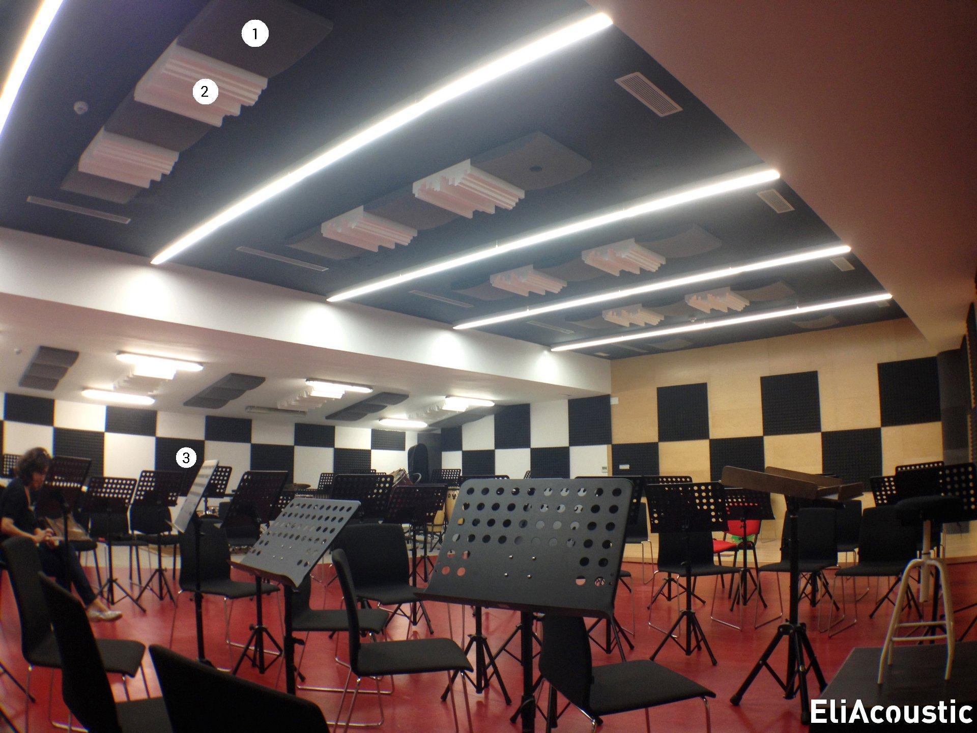Escuela de musica acondicionada acusticamente