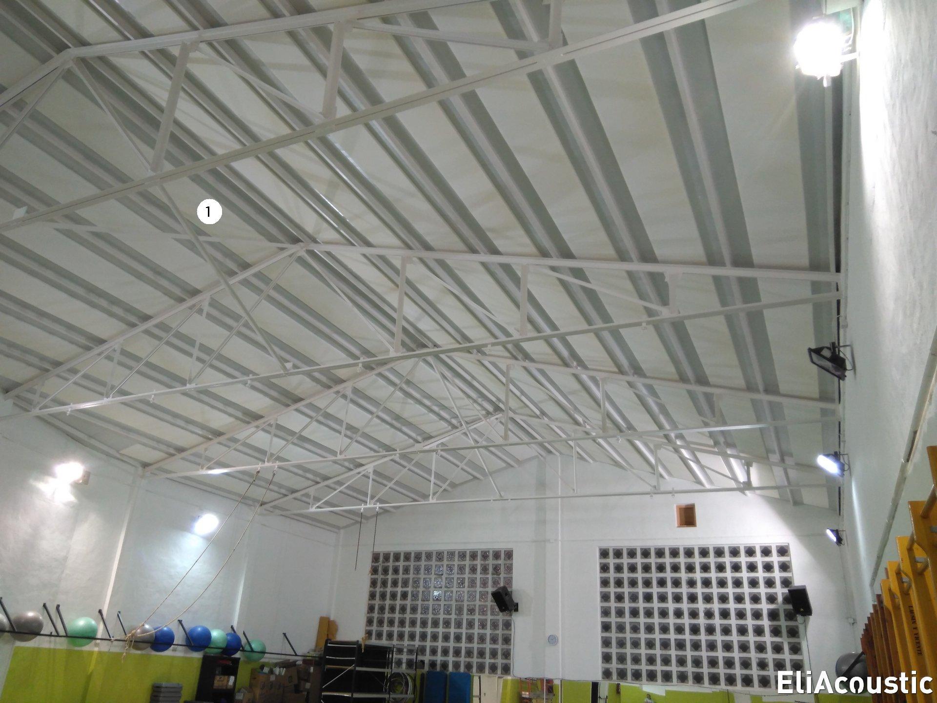 Eliminar eco en pabellon con paneles decorativos
