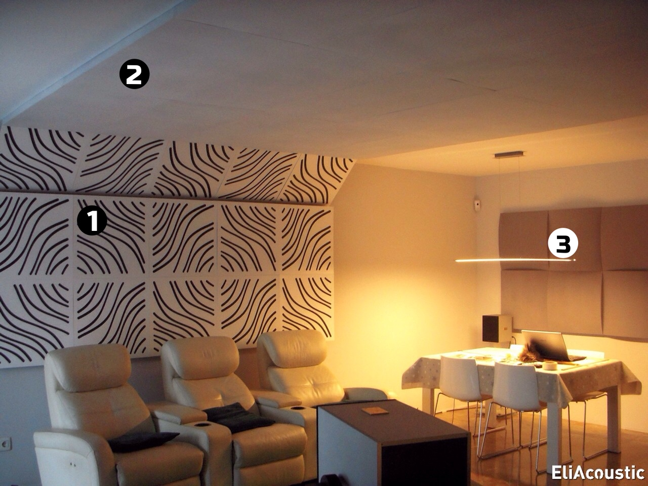 Paneles acusticos de madera para Home-Cinema